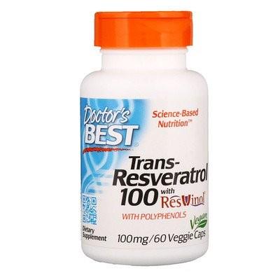 レスビノール配合トランスレスベラトロール、100 mg、植物性カプセル60粒