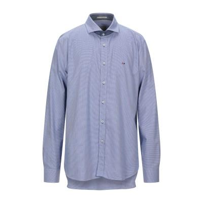 WEBB & SCOTT CO. シャツ アジュールブルー S コットン 100% シャツ