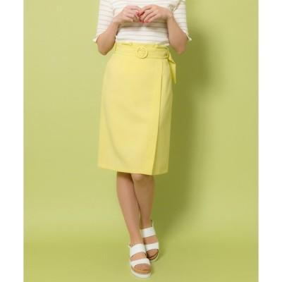 スカート ウエストフリルタイトスカート(9R10-04101)