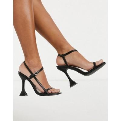 レイド レディース サンダル シューズ RAID Lacie flared heeled sandals in black