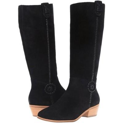 ブーツ ジャックロジャース Jack Rogers SAWYER Suede Tall Boots Black Whip Lace Rondelle Shoes 6