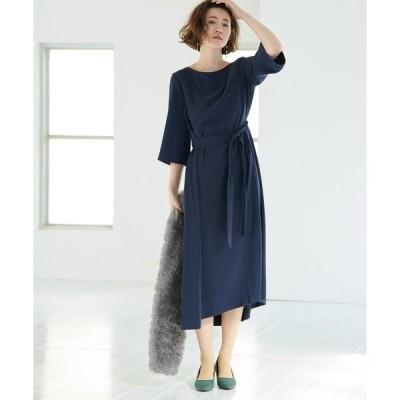 ドレス 【一部店舗限定】【Mon E'toile】グロッシーエステルツイルワンピース