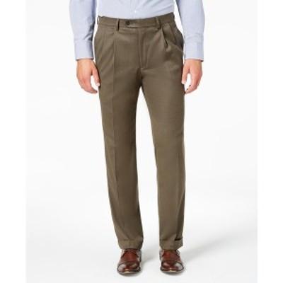 ラルフローレン メンズ カジュアルパンツ ボトムス Men's Classic-Fit UltraFlex Stretch Micro-Twill Pleated Dress Pants Taupe