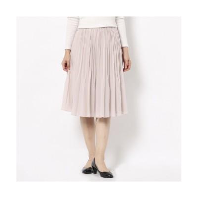 (Rose Tiara(L SIZE)/ローズティアラ エルサイズ)シフォンジョーゼットプリーツスカート/レディース ピンク
