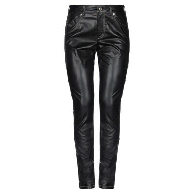 VERSACE JEANS COUTURE パンツ ブラック 24 レーヨン 100% / ポリウレタン樹脂 パンツ