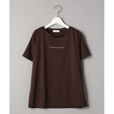 BEAUTY&YOUTH UNITED ARROWS/ビューティ&ユース ユナイテッドアローズ BY コットンプリントTシャツ2 DK.BROWN S