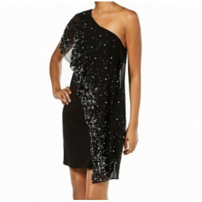 Rich  ファッション ドレス MSK Womens Dress Rich Black Size Medium M Sheath Chiffon Embellished