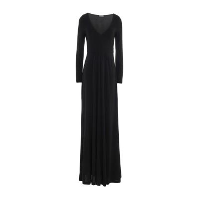 MALÌPARMI ロングワンピース&ドレス ブラック 42 レーヨン 100% ロングワンピース&ドレス