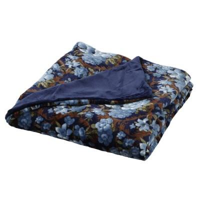 西川 ■アルミ効果で蓄熱速暖あったか掛けふとんカバー フランネル素材 やわらか 毛布 1枚2役 シングルロング ブルー 0541246042
