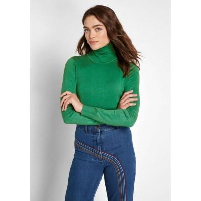 レディース ニット・セーター トップス charter school turtleneck sweater green
