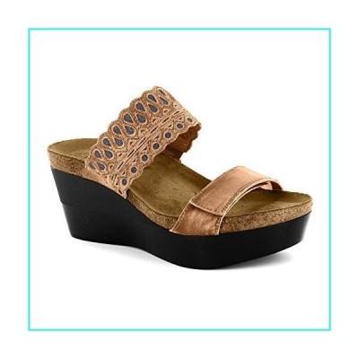 【新品】NAOT Women's Latte Brown/Mirror Leather Rise 5 B(M) US(並行輸入品)