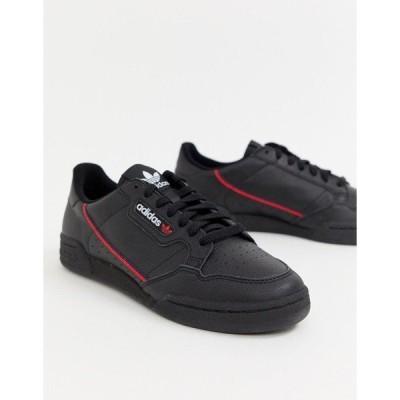 アディダスオリジナルス メンズ スニーカー シューズ adidas Originals Continental 80's Sneakers In Black Black