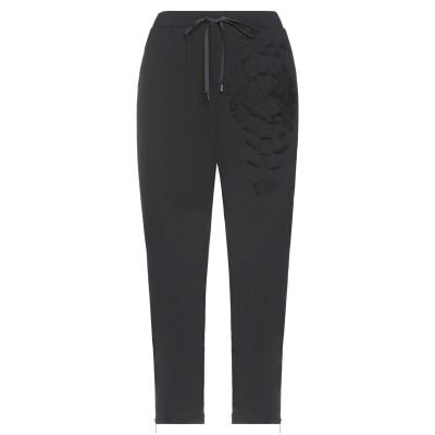 LANACAPRINA パンツ ブラック 48 コットン 95% / ポリウレタン 5% パンツ