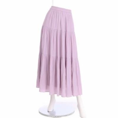 アルアバイル allureville スカート サイズS レディース 美品 ピンク系 フレアスカート 表地 裏地:ポリエステル100%【中古】20210619