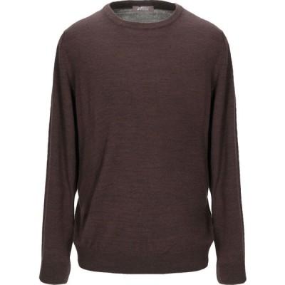 アンドレア フェンツィ ANDREA FENZI メンズ ニット・セーター トップス sweater Dark brown