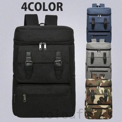 リュックリュックサックメンズレディース人気高校生通学バックバッグ大容量おしゃれスクエア4色選択可能