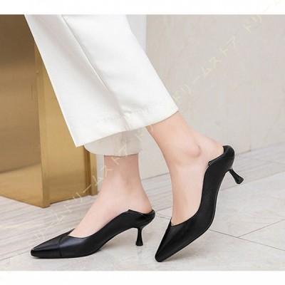 走れるパンプス ポインテッドトゥ 美脚 大きいサイズ 黒 ローヒール 痛くない 歩きやすい ピンヒール 走れる パンプス 低ヒール 疲れにくい レディース靴
