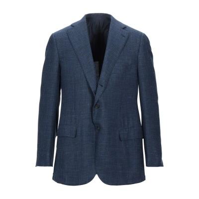 チェザーレアットリーニ CESARE ATTOLINI テーラードジャケット ブルー 54 ウール 70% / シルク 17% / リネン 13%