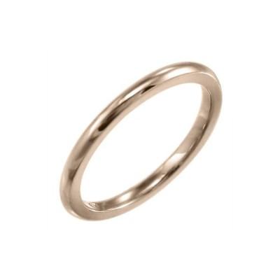 甲丸リング 小指 指輪 スタンダード k10ピンクゴールド 約1.4mm幅
