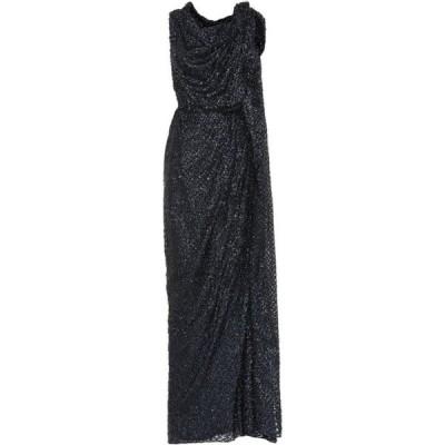 ローラン ムレ Roland Mouret レディース パーティードレス ワンピース・ドレス Silvabella fil coupe gown BLK MULTI