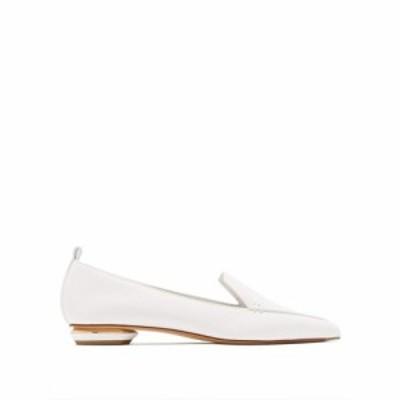 ニコラス カークウッド Nicholas Kirkwood レディース ローファー・オックスフォード シューズ・靴 Beya grained-leather loafers White