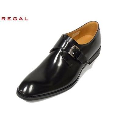 リーガル REGAL 813R AL BLK ブラック モンクストラップ ビジネスシューズ 紳士靴