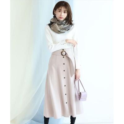 【ジャスグリッティー】 ベルト付きカラースカート レディース ベージュ 1 JUSGLITTY