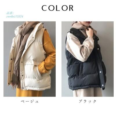 中綿スタンドカラーベスト レディース 2020 冬 新作 NEWスタイル ベスト 送料無料 韓国 韓国ファッション