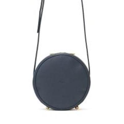 Ense(アンサ)アンサ ポシェット Ense ショルダーバッグ 本革 maru pochette S 斜めがけ 小さい 小さめ 丸形 円形 レディース 革 レザー 軽量 T202 ネイビー