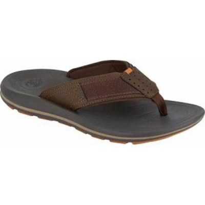 Dockers メンズサンダル Dockers Montego Thong Sandal Brown Waxy Distresse