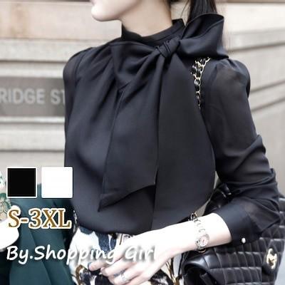 シャツ ブラウス レオパード リボンタイ フリルスリーブ レディース 韓国ファッション 大きいサイズ フォーマル おしゃれ