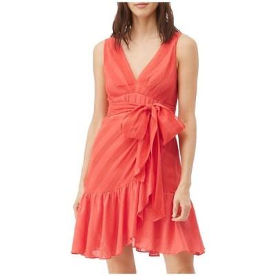レベッカテイラー レディース ワンピース トップス Sleeveless Stripe Wrap Dress