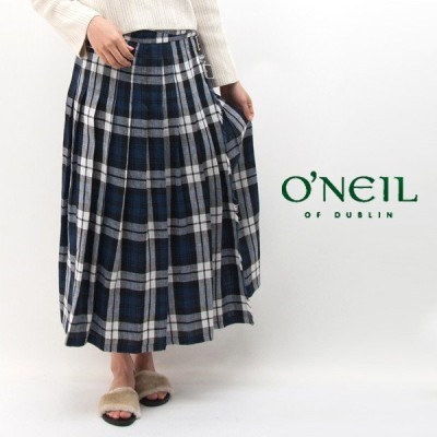O'NEIL OF DUBLIN オネイル/オニールオブダブリン レディース ローウエスト プリーツラップスカート(NOD0901)(BASIC)