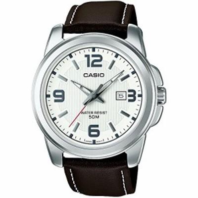 カシオ Casio Mens Year-Round Quartz Watch with Leather Strap Brown 20 Model MTP-1314PL-7AVEF逆輸入モデル 送