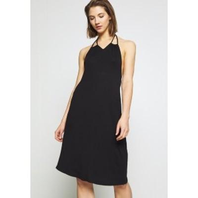 ヤス レディース ワンピース トップス YASFILLI HALTERNECK DRESS - Jersey dress - black black