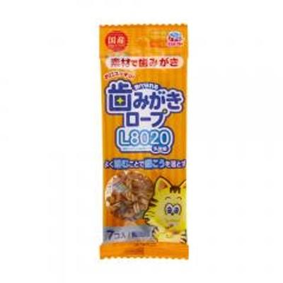 食べられる歯みがきロープ 愛猫用 鯛風味 7個入り 猫 猫用歯磨き 歯みがき 5袋入り