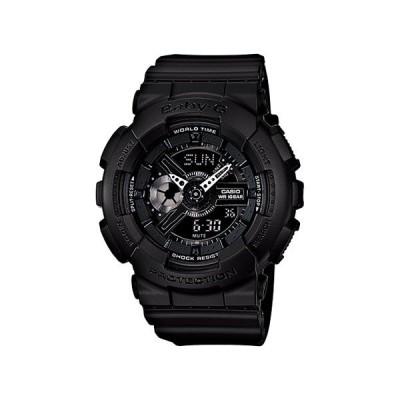 送料無料 新品 腕時計 CASIO カシオ BABY-G ベビージー 海外モデル アナデジ カジュアル ブラック×ブラック BLACK×BLACK レディース BA-110BC-1A