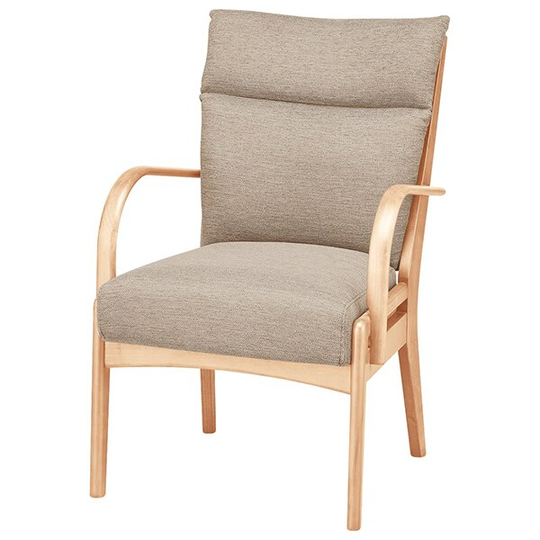 ◎實木餐椅 N COLLECTION C-27M 附扶手 NA/DR-BE 櫸木 NITORI宜得利家居