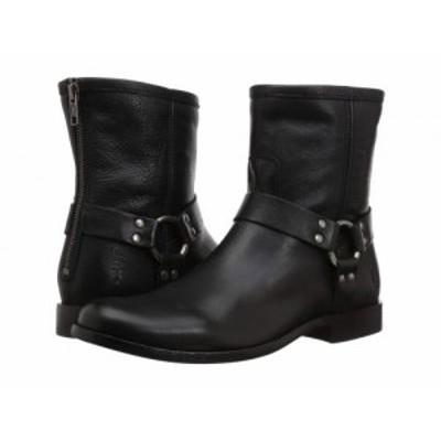 Frye フライ レディース 女性用 シューズ 靴 ブーツ ライダーブーツ Phillip Harness Short Black Soft Vintage Leather【送料無料】