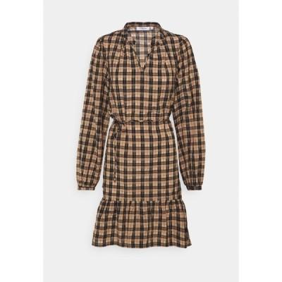 モス コペンハーゲン ワンピース レディース トップス FLORENE - Day dress - brown check