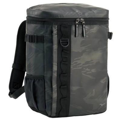 ミズノ メンズ ターポリンバックパック(20L) 90ブラック×ブラック フットボール/サッカー バッグ 33JD0301