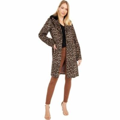 ケイト スペード Kate Spade New York レディース コート アウター Leopard Wool Coat w/ Faux Fur Collar Leopard