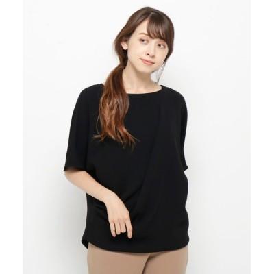 WORLD ONLINE STORE SELECT / 変形ゆる5分袖プルオーバー WOMEN トップス > Tシャツ/カットソー