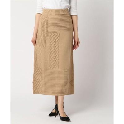 スカート ACバルキー パネル柄 ロングスカート
