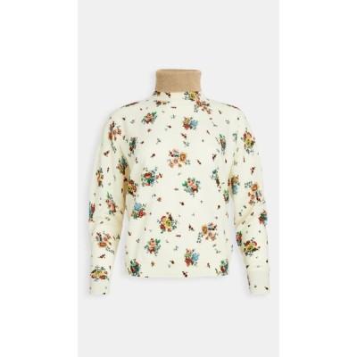 パコラバンヌ Paco Rabanne レディース ニット・セーター トップス Floral Printed Sweater Ivory 's Grungy Romant