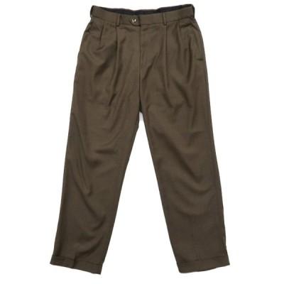 CROFT & BARROW ポリエステル 2タック スラックス パンツ サイズ表記:W34L30