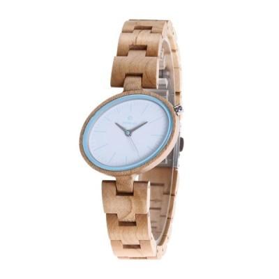 レディース 腕時計 木製 楕円 デザイン 天然木 天然 木の温もり 上品 お祝い 普段着 デート 大人 上品 かわいい 大人可愛い