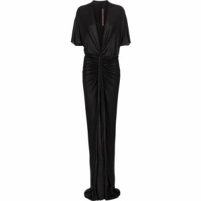 リック オウエンス Rick Owens レディース パーティードレス ワンピース・ドレス Lilies ruched gown Black