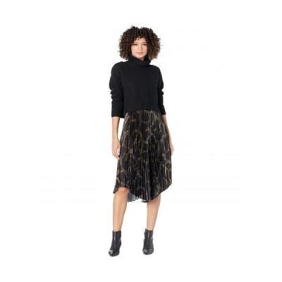 AllSaints レディース 女性用 ファッション ドレス Cynthya Tabula Dress - Black/Khaki Green