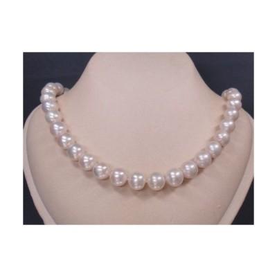A12356 真丸近く 高級 ホワイト天然真珠 ネックレス